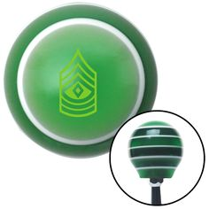 Green First Sergeant Green Stripe Shift Knob with M16 x 15 Insert - Give your interior the ultimate look. American Shifter's Elite(TM) series shift knobs are made from the highest quality components resulting in a superior feel on every shift. Each shift knob is designed and customized in the USA by skilled shift knob artisans who have a trained eye on every detail. American Shifters shift knobs offers an exclusive aluminum threaded insert designed to be screwed onto your shift arm. You…