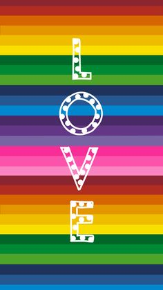 Rainbow Stripe with Love. iPhone 6/6s Wallpaper. By Amy Raymond