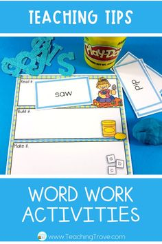 Sight word activities that are editable make it easy to create hands on teaching resources that help even your struggling readers to learn their sight words. With this editable sight word pack you can quickly make 21 literacy centers that target the sight words your class need to learn – all with a fun spring theme.
