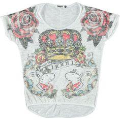 T-shirt stampa corona Hooli donna - € 24,90 | Nico.it - #hooli #tshirts #trendytshirts #nicoit #corona #crown