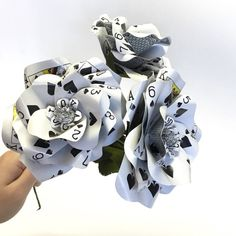 3 Poker Flowers Made from Playing Cards Make by ThePaintedPetaler