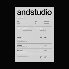 "andstudio trên Instagram: ""We renewed our logotype and identity. Check it out in our website! #branding #identity #identitydesign #logotype #logomark #logosymbol"" Invoice Design, Letterhead Design, Resume Design Template, Branding Design, Brand Identity Design, Minimalist Graphic Design, Freelance Graphic Design, Graphic Design Posters, Page Layout Design"