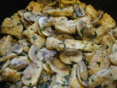 Chicken and Mushrooms in Garlic White Wine Sauce — My Love For Cooking