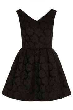 Black flower/sparkle dress.