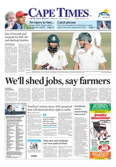 News making headlines: We'll shed jobs, say farmers