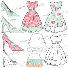 Digital Dress & Fashion Accessories Set  2  High by GraphicBlossom, $4.95