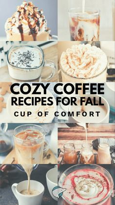 23 Cozy Coffee Recipes for Fall: Cups of Comfort - All things Autumn - Coffee Recipes Autumn Coffee, Coffee Cozy, Coffee Break, Best Coffee, Morning Coffee, Coffee Mix, Autumn Cozy, Coffee Drink Recipes, Coffee Drinks