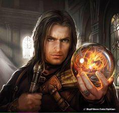 Aragorn with Palantir (Gaining Strength card lotr lcg) by Magali Villeneuve
