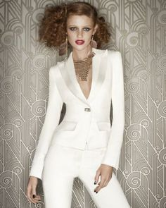 White Tuxedo - Hot! ...(But, who the h*ll wears their hair like that??!!)