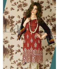 Lala Brocade Embroidered Kurtis Collection 2016 BRK_08