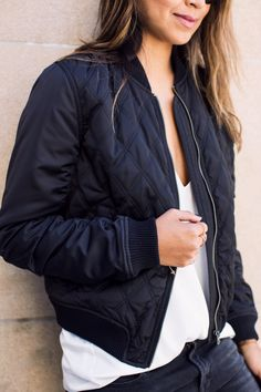 http://www.newtrendclothing.com/category/quilted-jacket/ Shop Sincerely Jules. The Boy Bomber Jacket