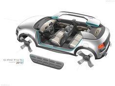 Gallery of Citroen Cactus Concept Images Car Interior Sketch, Car Interior Design, Car Design Sketch, Car Sketch, Automotive Design, Design Autos, Citroen Car, Transportation Design, Tool Design