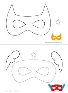 super herois em feltro mascaras molde