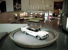 The 1958 Edsel Pacer on the rotunda. Edsel has always been synonamous with failure, why? -Introduced during a major recession in the United States. -Introduced to fill a gap between Mercury and Lincoln which wasn't needed. -Came equipped with a. Made In Dagenham, Edsel Ford, Ford Ltd, Old Fords, Us Cars, Automotive Art, Ford Motor Company, Car Painting, Future Car