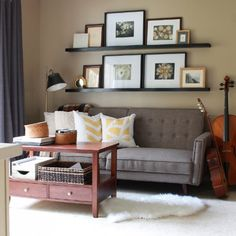 This Pottery Barn-esque picture frame ledge costs just $11 to make, and can be made to fit the size of the space you have to work with.