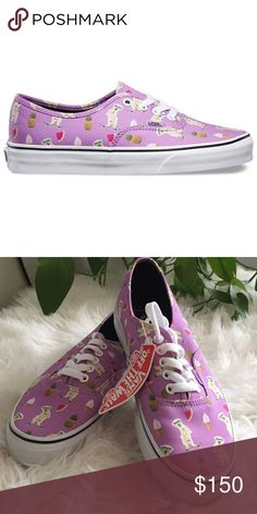 Vans LIMITED EDITION pool vibes (purple puppies) Limited edition- sold out  Price is negotiable   Size 7 men / 8.5 women   Brand new  Will ship within 7 business days 💌 Vans Shoes Sneakers