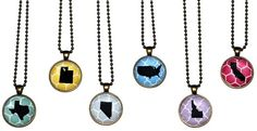 State Pendant Necklace for $6.99
