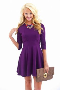 Plum Cute Dress