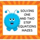 In this file, students will practice solving one and two step equations.  Best of all, this file is FREE!  Students must be able to work with simpl...