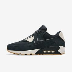 best loved 9dcfa 32eaa Chaussure Nike Air Max 90 Pas Cher Homme Premium Marine Arsenal Voile Jaune  Gomme Marine Arsenal