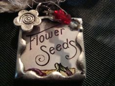 SEED PACKET  Soldered Art Glass Pendant or by victoriacharlotte, $9.00