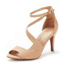 9a97010e77ca DREAM PAIRS Women s NILE Nude Fashion Stilettos Open Toe Pump Heel Sandals  Size 9 B(