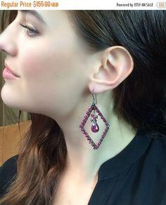 35 OFF SALE Red Luxury Gemstone Chandelier by DoolittleJewelry