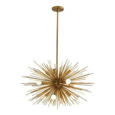 Arteriors Zanadoo 12L Iron Chandelier - How fabulous is this chandelier? It's like a giant sunburst and would add a dramatic touch to any di...