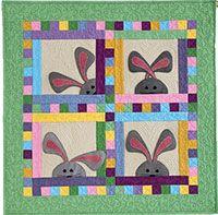 Peek-a-Boo-Bunnies Pattern Download from QuiltandSewShop.com