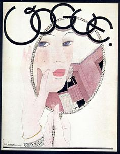 George Lepape, Vogue cover, November 1927 by Gatochy, via Flickr