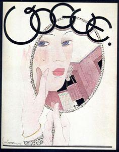George Lepape, Vogue cover, November 1927 by Gatochy, via Flickr
