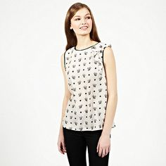 Oasis Squirrel Print Shell Top- at Debenhams.com
