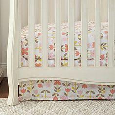 DwellStudio Rosette Blossom Percale Crib Skirt | Bloomingdale's