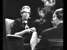 Hannah Arendt im Gespräch mit Günter Gaus, 1964.