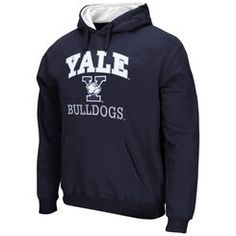 Yale Bulldogs Arch & Logo Mascot Pullover Hoodie – Navy Blue
