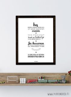 Lyrics posters and postcards from € Hampi, Kids Songs, Letter Board, Lyrics, Lettering, Frame, Postcards, Poster, Inspiration