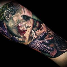 "5,072 Me gusta, 30 comentarios - Время Тату | Time's Tattoo (@times_tattoo) en Instagram: ""Знаешь откуда у меня эти шрамы? ➖➖➖➖➖➖➖➖➖➖➖➖ #times_tattoo #jokertattoo #джокер #татуджокер…"""