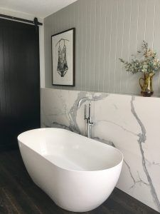This bath and tap combo featured in our collaboration with Michael and Carlene