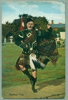 Highland Fling, old post card