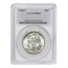 1946 S Walking Liberty Half Dollar MS-67 PCGS *** Read more  at the image link.