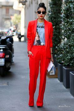Уличная мода: Неделя моды в Милане осень-зима 2014-2015: street style