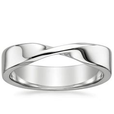 18K White Gold Mobius Ring from Brilliant Earth