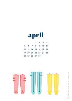 Free April Digi Calendar | Red Stamp