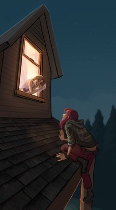 "(Open rp: Be the girl in the window) ""Cassidy! Go home! My mom will kill you if she sees someone up here at night!"" You call out. ""Aw.. But I can't sleep, and I don't have anything to do! I just want to talk to you!"" I secretly have a crush on you, and I have to find out your feelings tonight.."