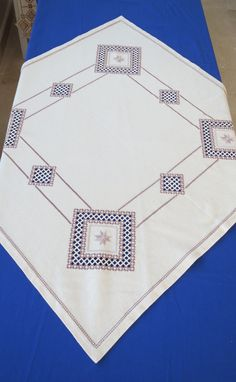 Hardanger Embroidery, Bargello, Needful Things, Needlework, Farmhouse Rugs, Towels, Trapper Keeper, Needlepoint, Blue Prints