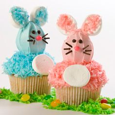 Hop on over to the kitchen to prepare these cute-as-can-be cupcakes. Perfect for spring celebrations, Easter, baby showers and birthday parties.
