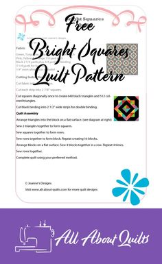 Free quilt pattern using half square triangles. When made into a quilt these blocks are like looking through a kaleidoscope - you keep seeing another pattern. Half Square Triangle Quilts, Square Quilt, Quilt Design, Quilting Designs, Quilt Patterns Free, Free Pattern, 52 Weeks, Pattern Cutting, Quilt Making