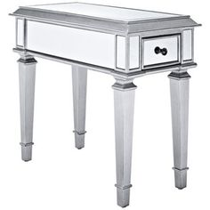 Celina Silver Mirrored Side Table