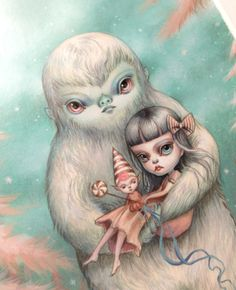 Image of Violet and the Yeti - original illustration by Mab Graves