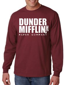 Dunder Mifflin Long Sleeve T-Shirt From the TV by DesignerTeez